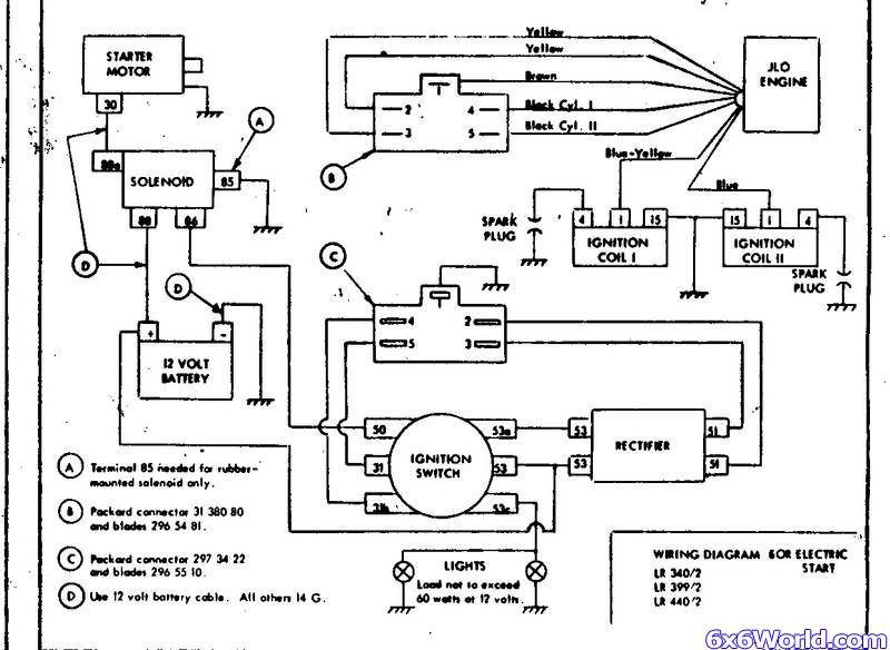 JLO_Twin_wiring small engines basic tractor wiring diagram readingrat net ford tractor wiring harness connectors at nearapp.co