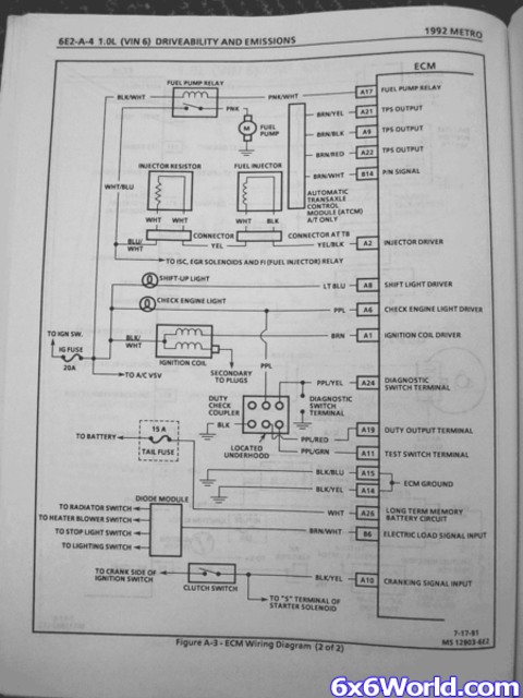 1995 geo metro wiring diagram images 10 wiring diagram and ecm pcm pinout amphibious atv pictures