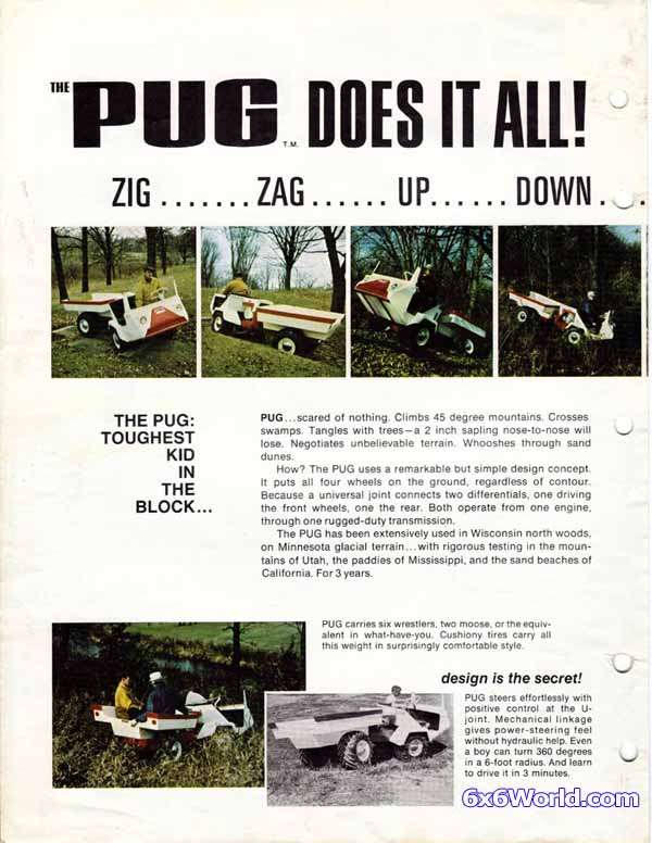 6x6 World - Pug 4x4 Articulated ATV