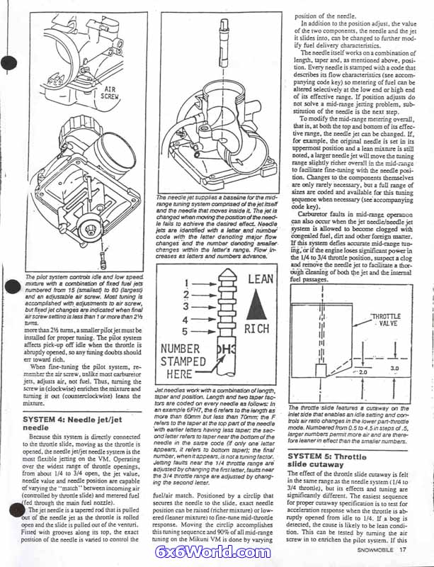 6x6 world mikuni vm carburetor tuning guide rh 6x6world com mikuni tuning manual from sudco pdf mikuni hsr 42 tuning guide