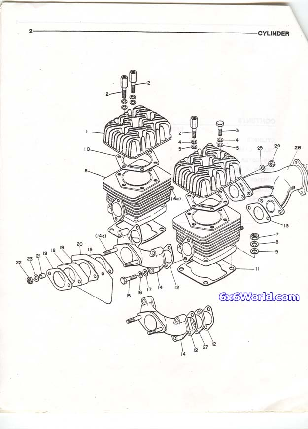 6x6 World - Chaparral G50B Parts Manual on