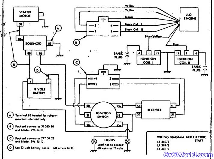 6x6 world jlo two stroke engine here are some wiring diagrams for the jlo engines there are three different ones the engine model numbers that they apply to are listed in the bottom