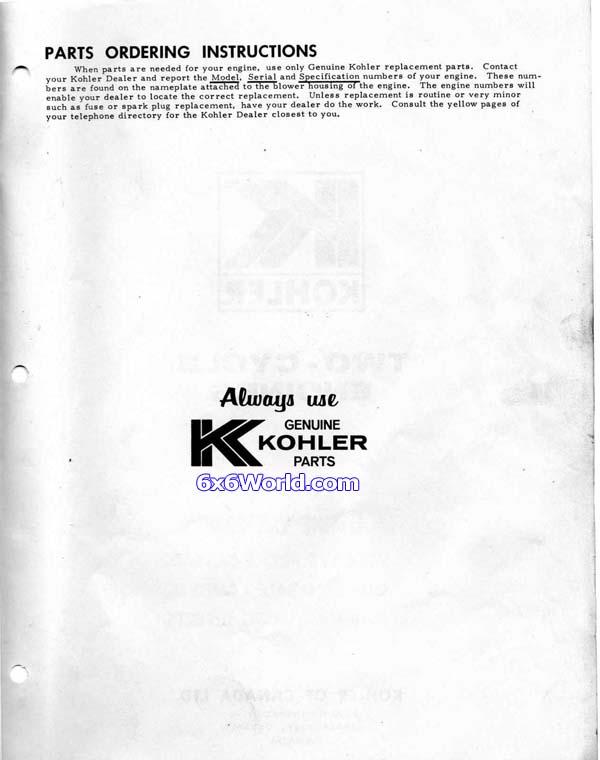 6x6 world kohler engine owners manuals rh 6x6world com kohler owners manual kt610-k, kt715-kt745t620 kohler owners manual for cub cadet ltx 1040