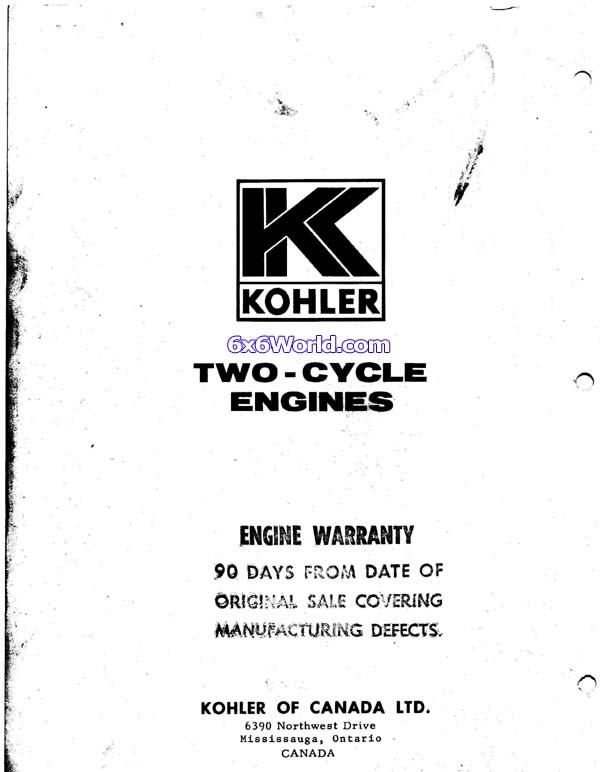 6x6 World - Kohler Engine Owners Manuals on