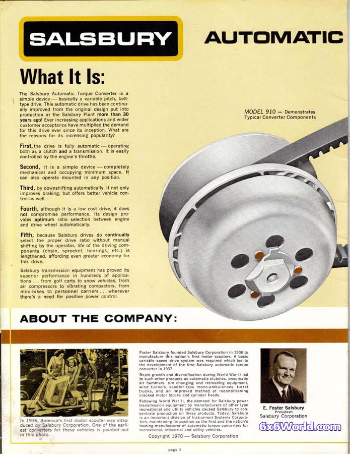 world salsbury clutch torque converter manual